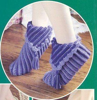 Вязание носок квадратами на спицах