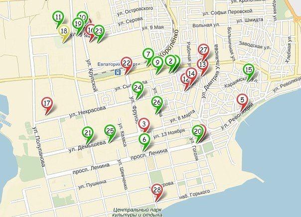 Поиск проституток на карте