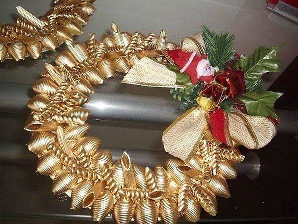 Новогодние поделки своими руками из макарон для детей