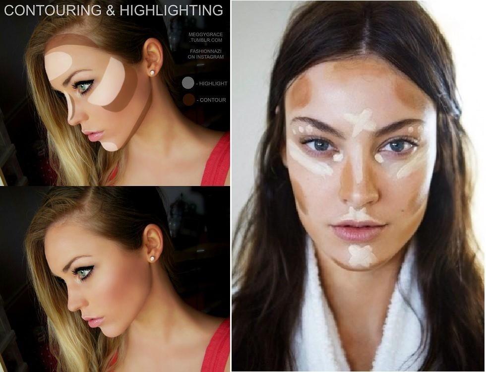 Как макияжем сделать лицо уже