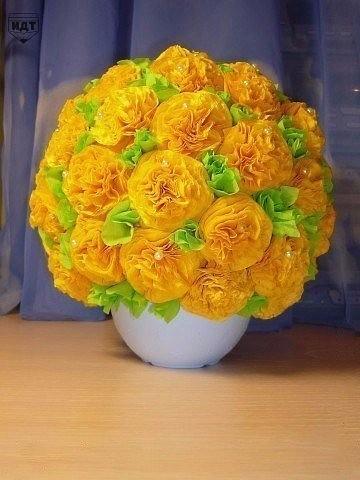 цветы из салфеток фото пошаговое