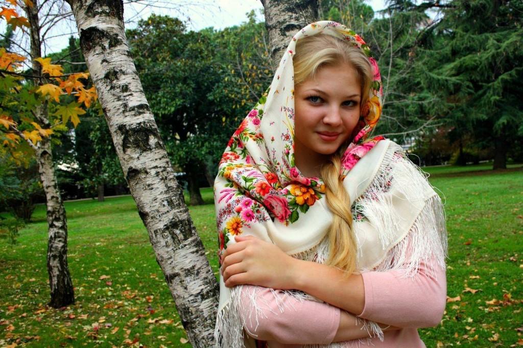 Русская красавица с большой