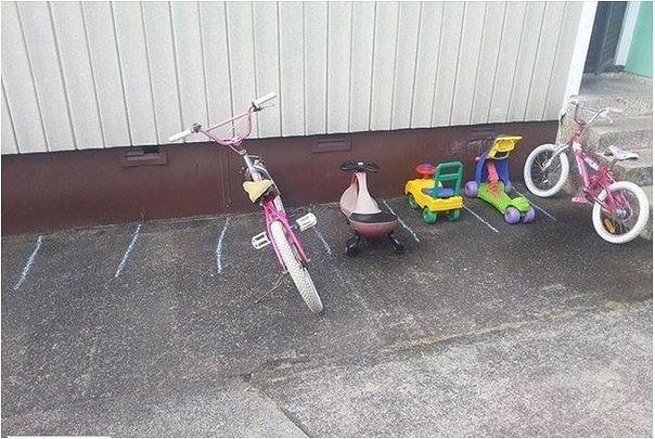 Парковка в детском саду