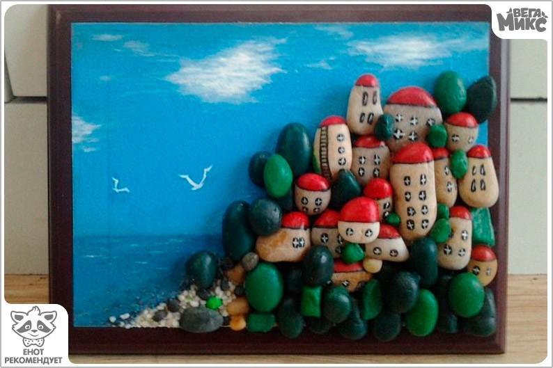 Картины из камней своими руками с детьми