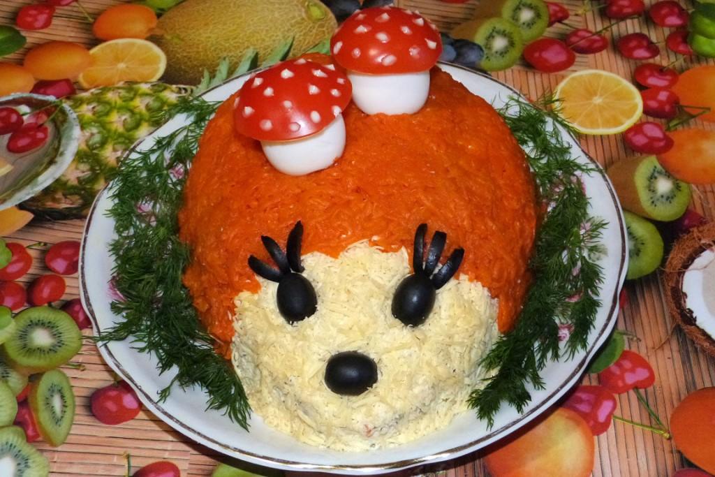 Рецепты детские салаты праздничные