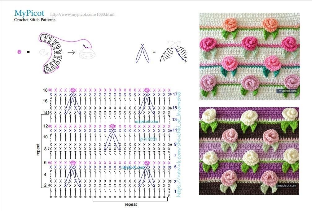 Вышивка схема одной розы в