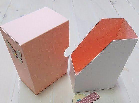 Как сделать коробку для бумаг из картона