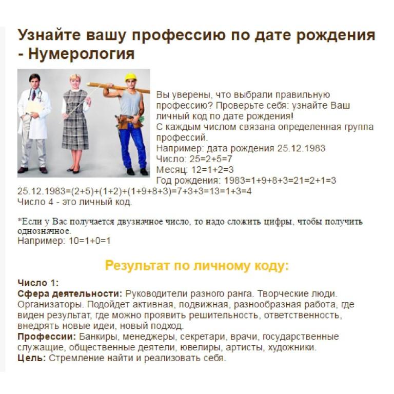 Нумерология дата знакомств