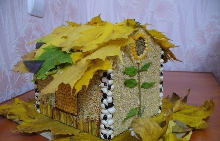 Золотая осень поделки из природного материала