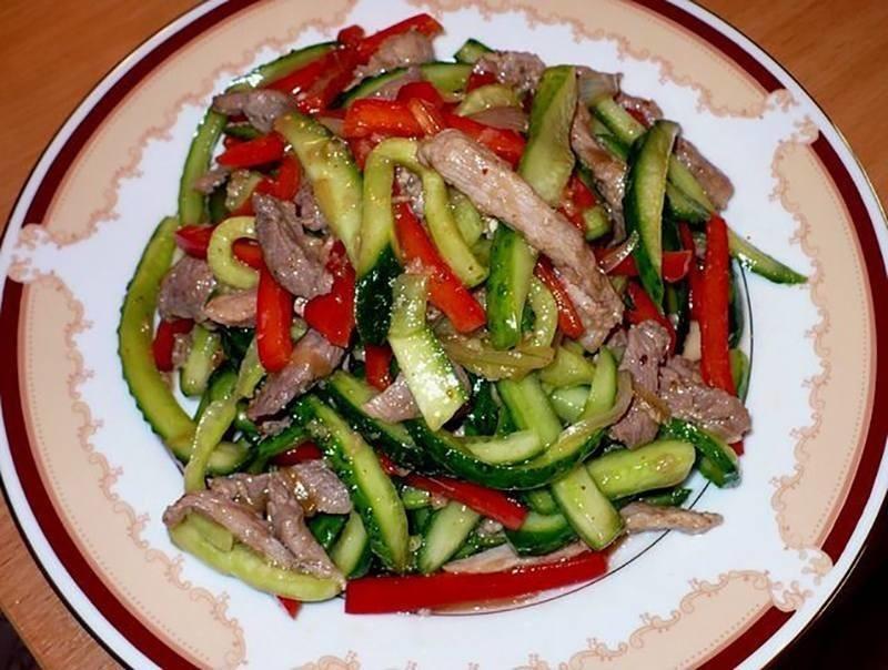 рецепт салатов с мясом