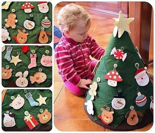 Как сделать своими руками новогоднюю игрушку ребенку
