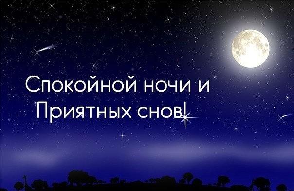 картинка спокойной ночи подписчики