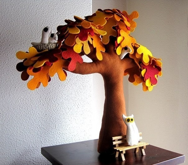Дерево своими руками из фетра мастер класс