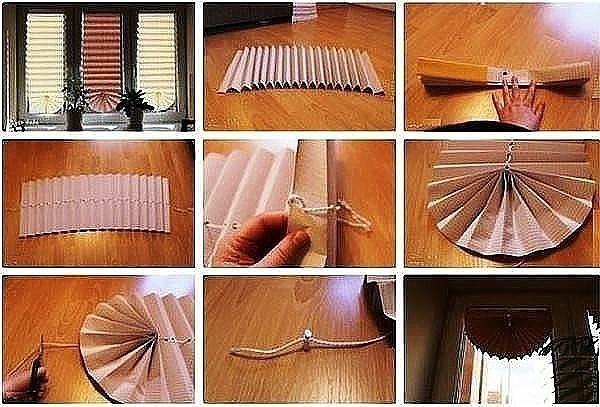 Рулонная штора сделать своими руками