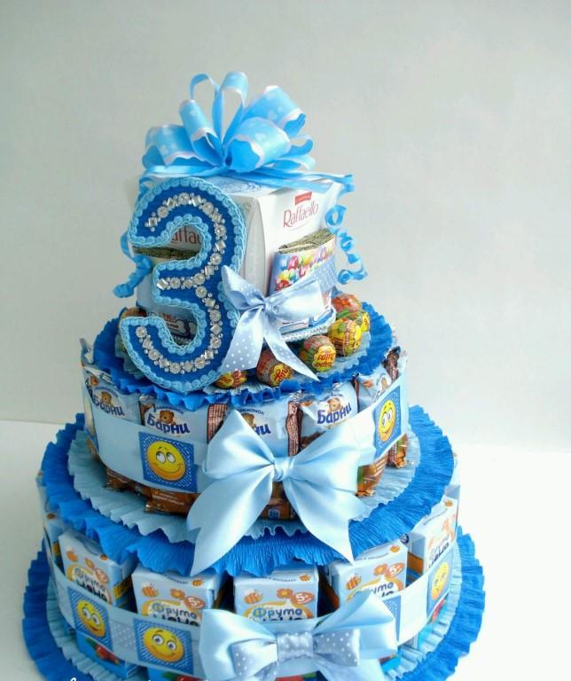 Оригинальный торт из магазинных сладостей упрощенное оформление торты для самых близких друзей посмотрите мой видео рецепт!