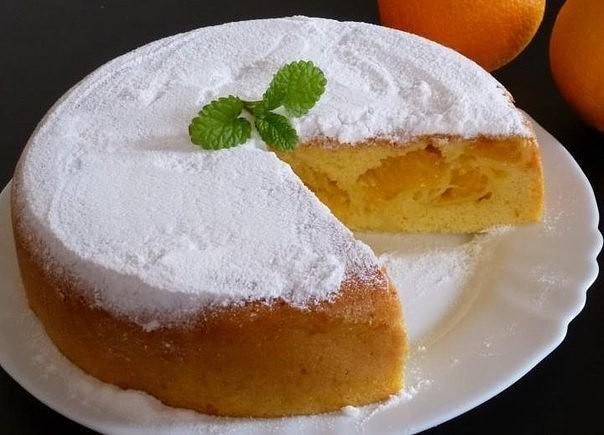Яйца — 5 штук, апельсины — 3 штуки, цедра лимона — 2 чайных ложки, мука — миллилитров (мультиварочный стакан), сахар — миллилитров, разрыхлитель — 1 чайная ложка.5 часов порций.
