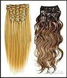 предлагаю вашему вниманию волосы на заколках, капсулах, ленточные, хвосты на ленте, хвосты на крабе.