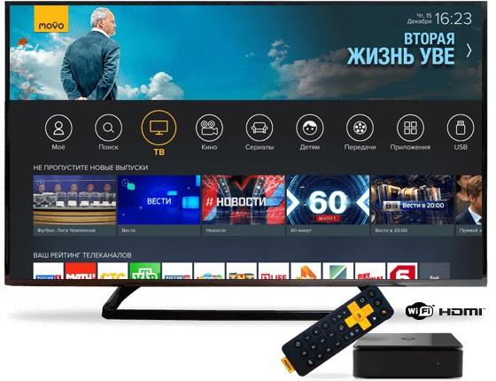 Продам интерактивную ТВ-приставку SML-482 HD подключенную к сервису MoyoTV.
